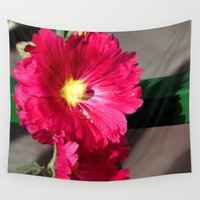 peony Wall Tapestries featuring Peony by Alex Sallade