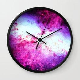 Galaxy Messier 82 Fuchsia Purple Wall Clock