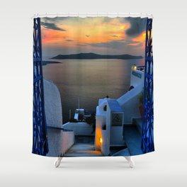 Santorini 15 Shower Curtain