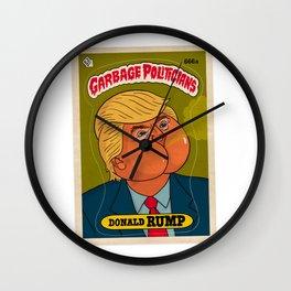 Donald Rump Wall Clock