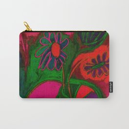 Blacklight Bouquet, Pink Carry-All Pouch