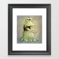 hello three eyes Framed Art Print