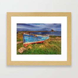 Lindisfarne By The Sea Framed Art Print