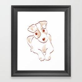 Jack russell Framed Art Print