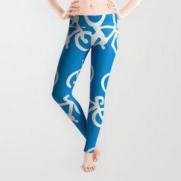 Blue Bike Leggings