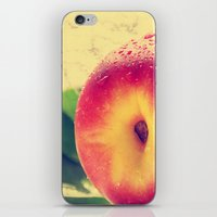 peach iPhone & iPod Skins featuring Peach  by Tanja Riedel