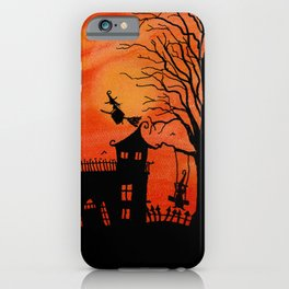 Haunted House Witch Play iPhone Case