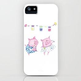 Pork chop love iPhone Case