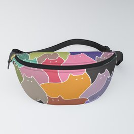 Colorful Patchwork Cats Fanny Pack