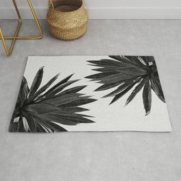 Agave Cactus Black & White Rug