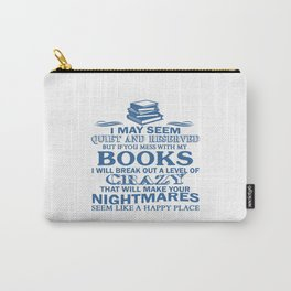 BOOKS CRAZY Carry-All Pouch