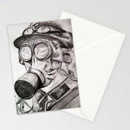 World War I - Gas Mask (WWI) Stationery Cards