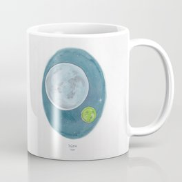 Haruki Murakami's 1Q84 Watercolor Illustration Coffee Mug