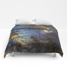 The Milky Way and constellations Scorpius, Sagittarius and the super big red star Antares. Comforters