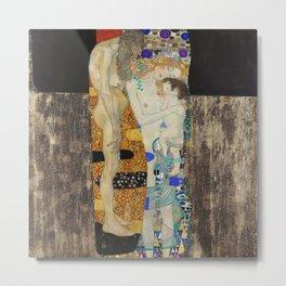 The Three Ages of Woman, 1905 by Gustav Klimt Metal Print