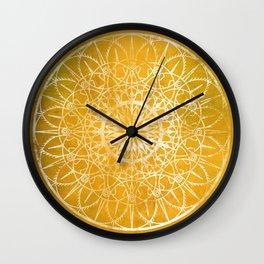 Fire Blossom - Yellow Wall Clock