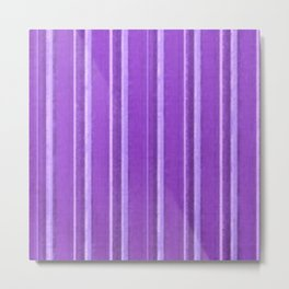 Retro Lavender Purple Grunge Primitive Stripe Metal Print