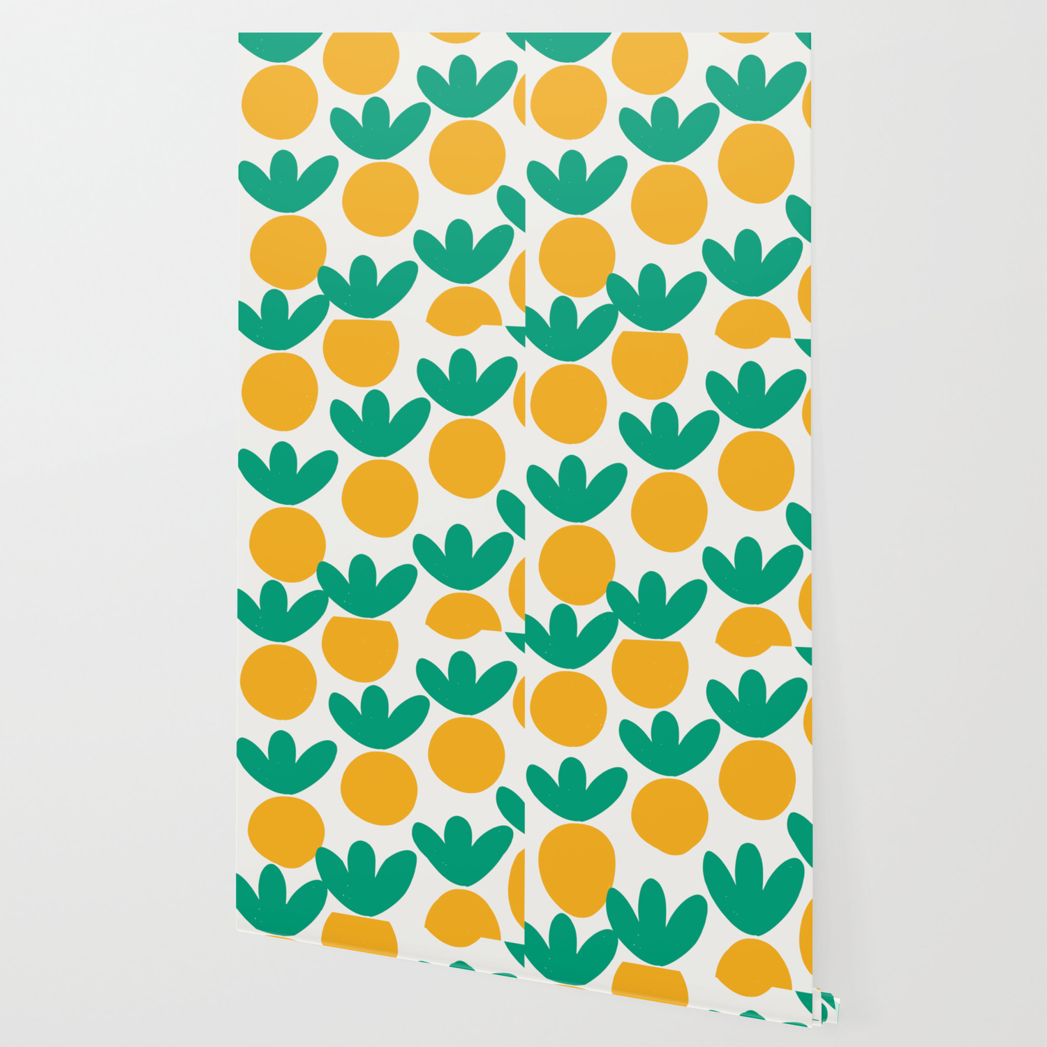 minimalist fruit summer pattern wallpaper