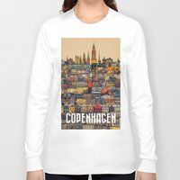 copenhagen Long Sleeve T-shirts featuring Copenhagen Facades by Siddharth Dasari