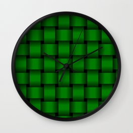 Large Green Weave Wall Clock