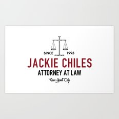 Jackie Chiles - Attorney at Law Art Print