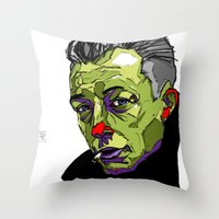 camus Throw Pillows featuring A. Camus by philip painter