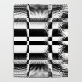 Black and White Abstract Structure Poster
