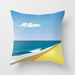 Rothko at the Beach Throw Pillow