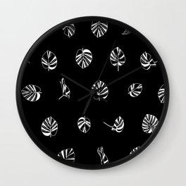 MONSTERA / pattern pattern Wall Clock