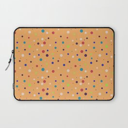 Modern geometrical colorful abstract polka dots Laptop Sleeve