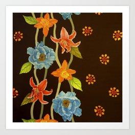 Vintage Flowery Serpentine Art Print