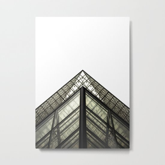Abstract Louvre Metal Print