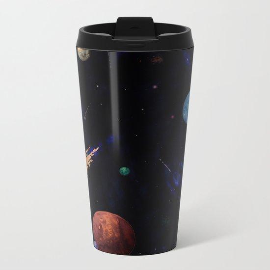 color galaxi Metal Travel Mug