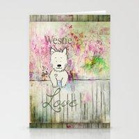 westie Stationery Cards featuring  Westie Love ~ West Highland Terrier ~ Ginkelmier by Ginkelmier