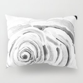 Roses For A Romantic Heart, Black and White Pillow Sham