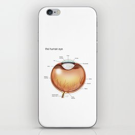 Human Eye Anatomy Illustration iPhone Skin