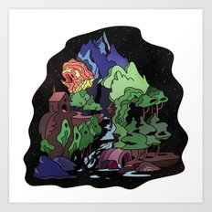 Space Island Art Print