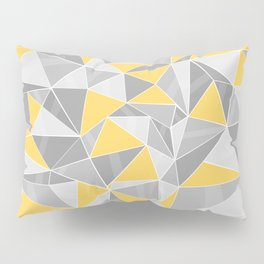 Pattern, grey - yellow Pillow Sham