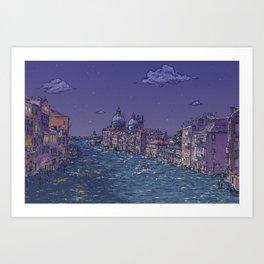 Travel Venice Italy Wanderlust Art Print