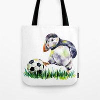 football Tote Bags featuring Football by Anna Shell