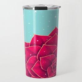 Big Holidays Christmas Red Echeveria Design Travel Mug