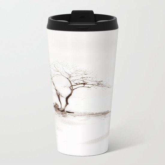 Scots Pine Sepia Metal Travel Mug