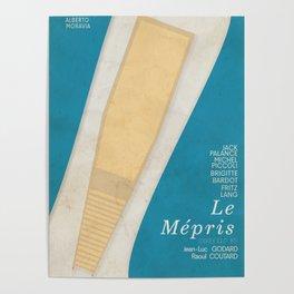 Contempt, Le Mépris, Jean-Luc Godard, Fritz Lang, Brigitte Bardot, french film, new wave, vague Poster