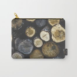 Stacked wood Carry-All Pouch
