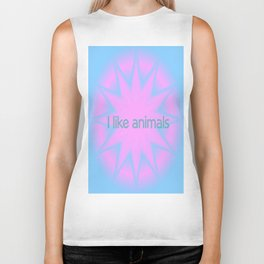 I like animals Biker Tank