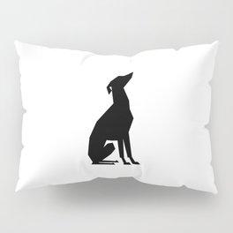 Italian Greyhound Silhouette Pillow Sham