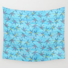 Sweet Dragonfly Skies Wall Tapestry