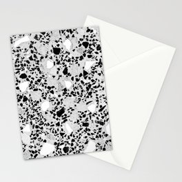 Real Terrazzo Stone Marble Concrete Mix Pattern Stationery Cards