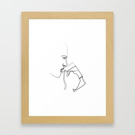""" Profile Collection "" - Man Drinking Beer Framed Art Print"