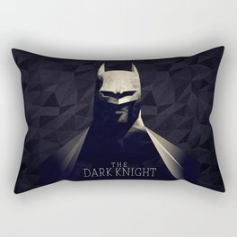 The Bat Knight Poly Art Rectangular Pillow